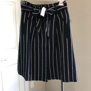 Professional striped work wear skirt